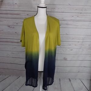 Coldwater Creek dip dyed open front cardigan 2X